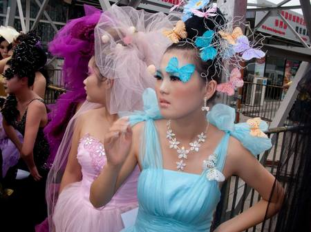 Outdoor fashion show. Beijing, China 2011
