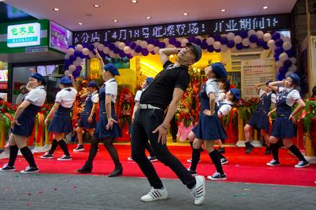 Opening gala event for bread store. Hangzhou, China 2014