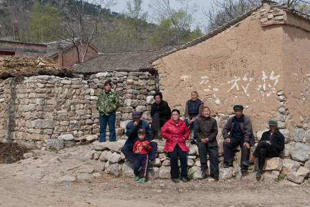 Village family portrait. Laiyuan, Hebei province, China 2008